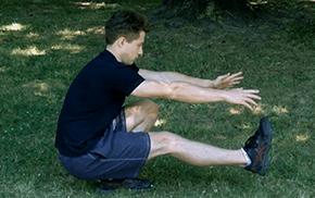 Pistole - dřep na jedné noze