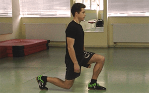 Výpady - Cvik na stehenní svaly