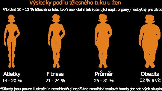 Tělesný tuk výsledky žem
