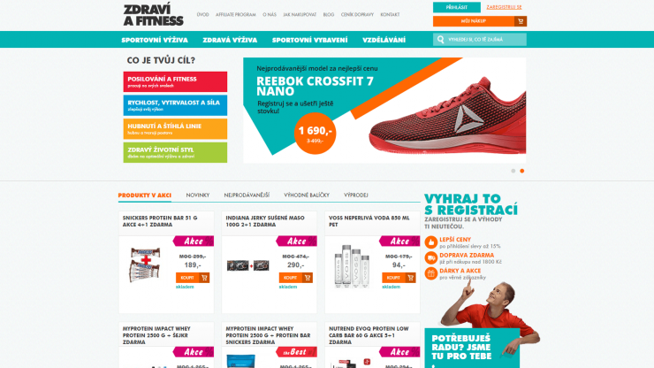E-shop Zdraví a fitness