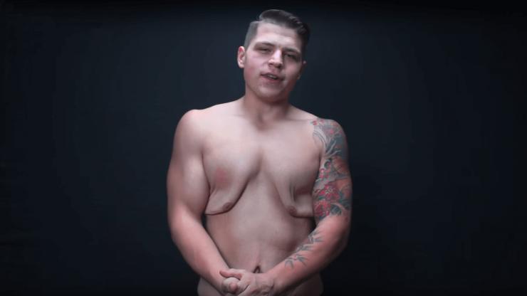Muž zhubl přes 70 kg