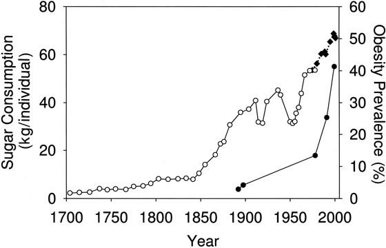 Graf cukru v potravinách