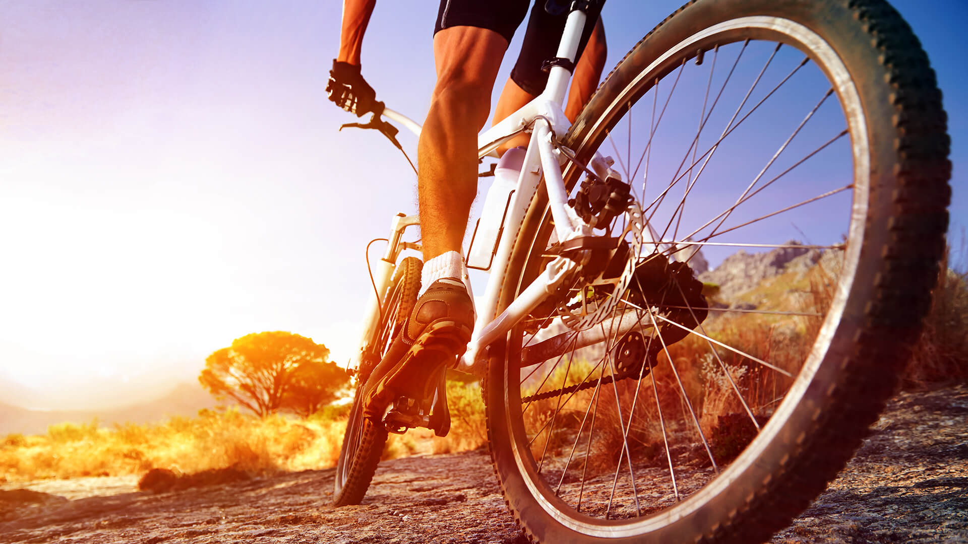 Kardio cvičení - jízda na kole