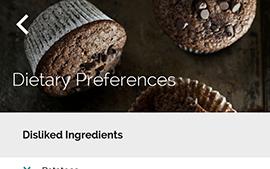 Yummly Recipes - výběr preferencí