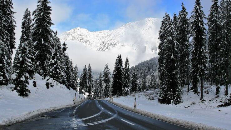 Zimní cesta běh