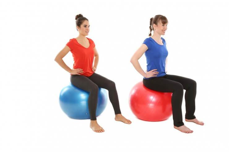 Cvičení na gymnastickém míči
