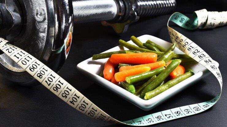 Jídlo při hubnutí a cvičení